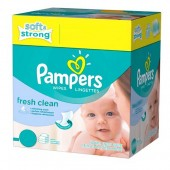 Pack de 384 Lingettes Bébés Pampers de Fresh Clean sur tooly