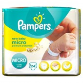 Pack 24 Couches Pampers de New Baby Micro sur soscouches