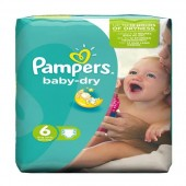 Couches Pampers Baby Dry taille 6 - 31 couches