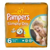Pack de 62 Couches Pampers Simply Dry sur 123couches