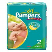 Pack de 58 Couches Pampers Baby Dry sur soscouches