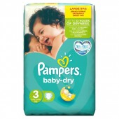 Pack 52 Couches Pampers Baby Dry sur choupinet