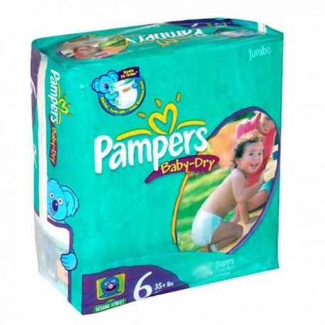 Couches Pampers Baby Dry taille 6 - 33 couches de Starckman