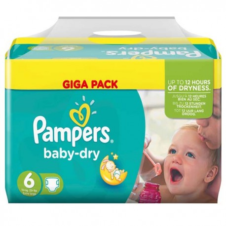 Couches Pampers Baby Dry taille 6 - 198 couches de Starckman