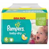 Pack économique de 198 Couches Pampers Baby Dry sur choupinet