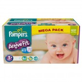 Couches Pampers Active Fit taille 3+ - 280 couches