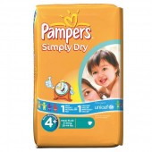 Pack de 44 Couches Pampers de Simply Dry sur promocouches