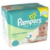 Pack économique de 768 Lingettes Bébés de Pampers Natural Clean sur les looloos
