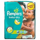 Pack 43 Couches Pampers de Baby Dry sur cou-ches