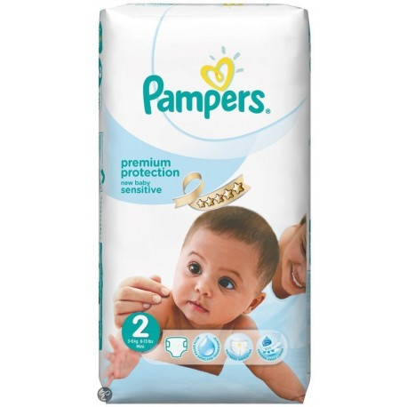 Couches Pampers New Baby Sensitive taille 2 - 60 couches de Starckman
