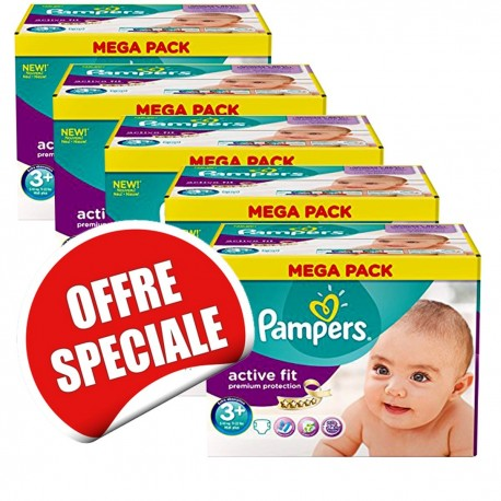 Couches Pampers Active Fit taille 3+ - 560 couches de Starckman
