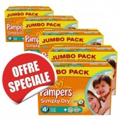Maxi giga pack jumeaux de 880 Couches Pampers Simply Dry sur soscouches