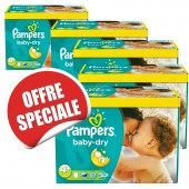 Maxi giga pack jumeaux 1008 Couches Pampers Baby Dry sur soscouches