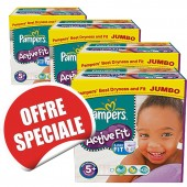 Maxi Giga Pack Jumeaux 870 Couches Pampers Active Fit sur soscouches