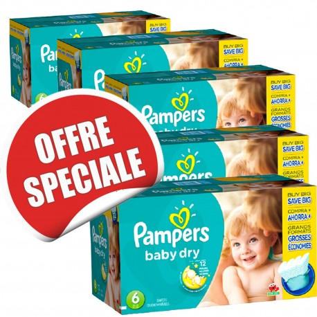 Couches Pampers Baby Dry taille 6 - 627 couches de Starckman