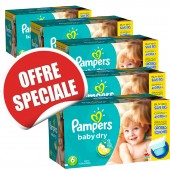 Couches Pampers Baby Dry taille 6 - 627 couches
