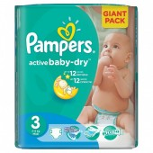 Pack 74 couches Pampers Active Baby Dry