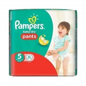 Couches Pampers Baby Dry Pants taille 5 - 21 couches