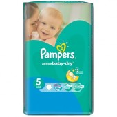 Couches Pampers Active Baby Dry taille 5 - 58 couches