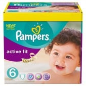 Giga Pack 124 couches Pampers Active Fit