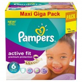 Maxi Giga Pack 248 couches Pampers Active Fit