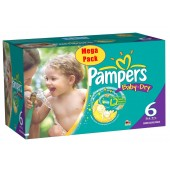 Mega Pack 152 couches Pampers Baby Dry