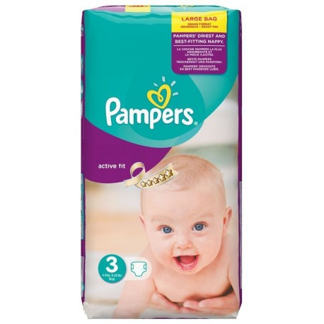 Couches Pampers Active Fit taille 3 - 62 couches de Starckman