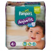 Pack de 78 Couches Pampers Active Fit sur lescouches