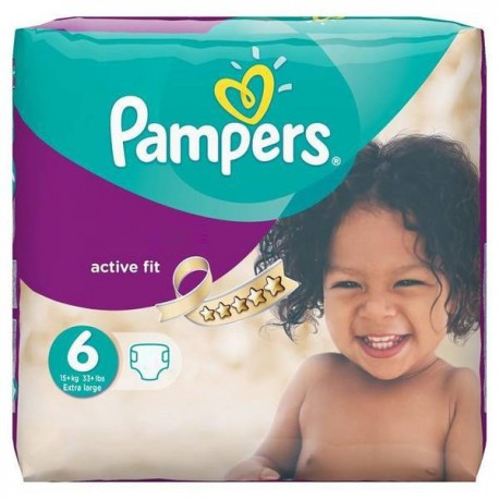 Couches Pampers Active Fit taille 6 - 31 couches de Starckman