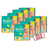 Maxi Pack de 408 Couches Pampers New Baby Dry sur layota
