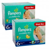Giga Pack 288 couches Pampers Active Baby Dry