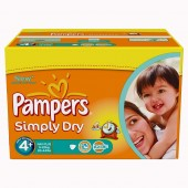 Maxi Giga Pack 528 couches Pampers Simply Dry