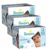Maxi Giga Pack Jumeaux 504 couches Pampers New Baby Sensitive