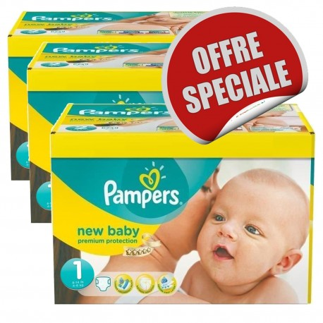 Couches Pampers New Baby Dry taille 1 - 516 couches de Starckman