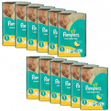 Couches Pampers New Baby Dry taille 1 - 860 couches de Starckman