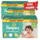 Maxi Pack de 396 Couches Pampers d'Active Baby Dry sur layota