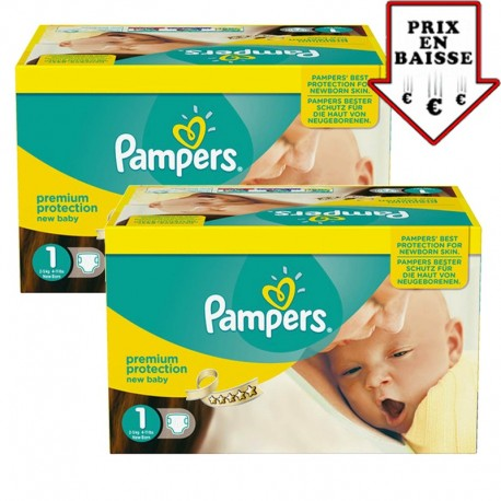 345 Couches Pampers New Baby taille 1 de Starckman