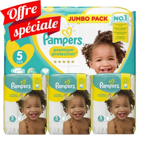 340 Couches Pampers Premium Protection - New Baby taille 5 de Starckman