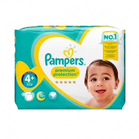 62 Couches Pampers Premium Protection - New Baby taille 4+ de Starckman