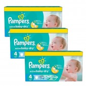360 Couches Pampers Active Baby Dry taille 4+