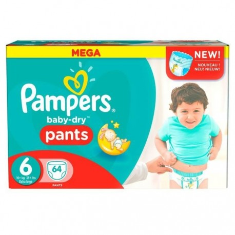 64 Couches Pampers Baby Dry Pants taille 6 de Starckman