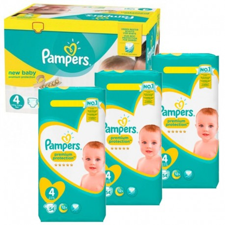 270 Couches Pampers New Baby - Premium Protection taille 4 de Starckman