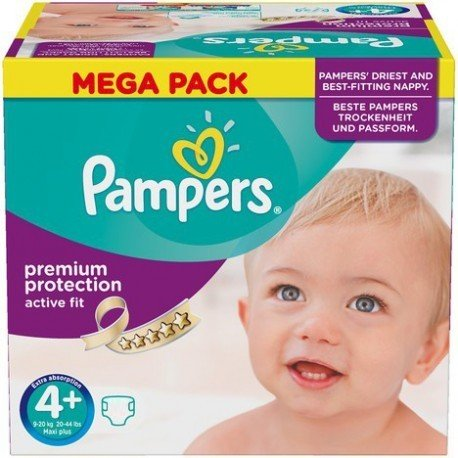 62 Couches Pampers Active Fit taille 4+ de Starckman