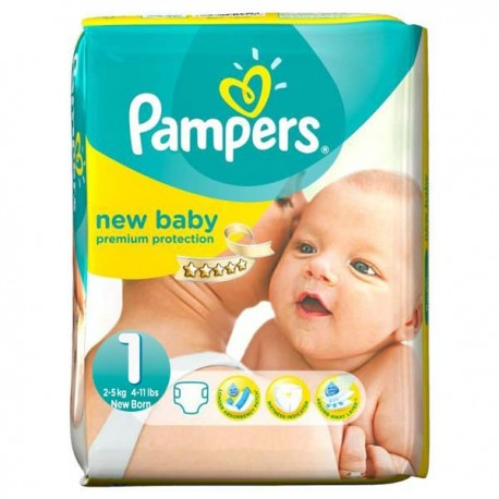 Couches Pampers New Baby taille 1 - 56 couches de Starckman