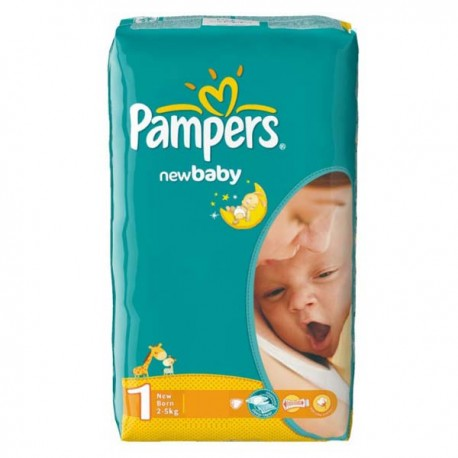 Couches Pampers New Baby Dry taille 1 - 43 couches de Starckman